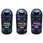 Colourful Blackboard Recycling Bin - 90 Litre
