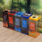 Box Cycle Novelty Animal Recycling Bins - 60 Litre