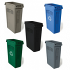 Slim Jim Waste Container with Venting Channels - 87 Litre