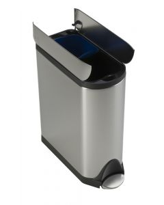 Simplehuman Butterfly Recycling Bin - 2 x 20 Litre Compartments