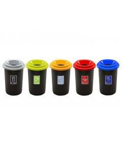 Round Open Top 50 Litre Recycling Bin