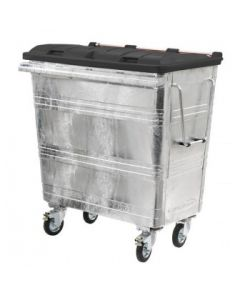 660 Litre Metal Wheelie bin with Choice of Lid