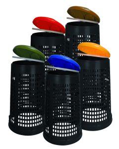 Ruff Perforated Litter Bin - 110 Litre
