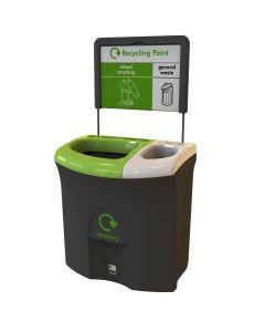 Mini Meridian Duo Aperture Recycling Bin - 87 Litre