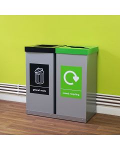 Double Box Cycle Recycling Bins - 120 & 160 Litre Available