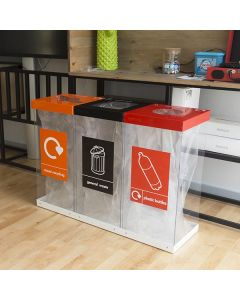 Triple Box Cycle Recycling Bins - 180 & 240 Litre Available