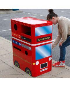 Double Decker Bus Recycling Bin