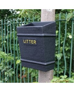 Post Mountable Open Top Litter Bin - 35 Litre
