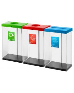 Clear Bodied Recycling Bin - 60 Litres