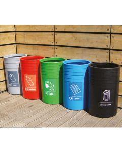 Circular Open Top Recycling Units - 91 Litre