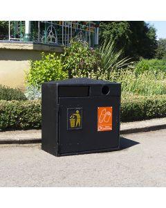 Double Never Rust Recycling Bin - 224 Litre