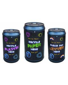 Blackboard Drinks Can Recycling Bin - 90 Litre