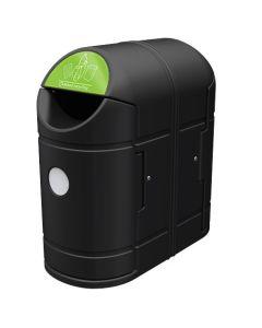 Exeo Twin External Recycling Bin - 180 Litre