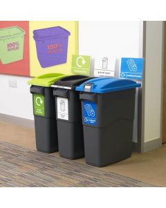 Smart Slim Profile Recycling Bin - 70 Litres