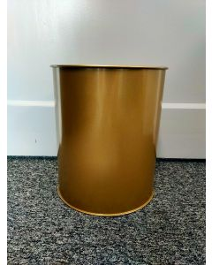 Gold Metal Waste Paper Bin - Approx 18 Litre