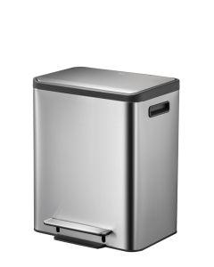 EcoCasa - 2 x 15 Litre Dual Compartment Recycling Bin