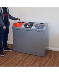 Lute Triple Stream Recycling Bin - 240 Litre