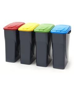 Slim Push Lid Litter Bin - 25 Litre