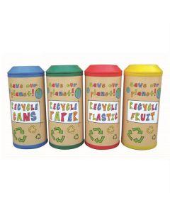 Colourful Midi Recycling Bin - 52 Litre