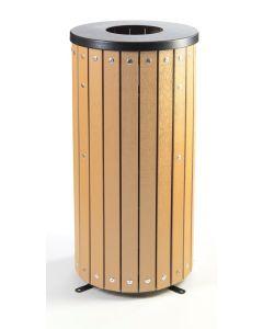 Wood Effect Outdoor Litter Bin - 40 Litre