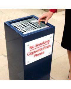 Square Metal Cigarette End Bin - 56 Litre