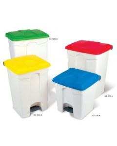 Step on Container with Coloured Lids - 30 Litre