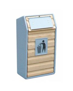 Timber Fronted Litter Bin - 105 Litres