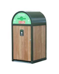 Royal Parks Unit Outdoor Recycling Bin - 120 Litre