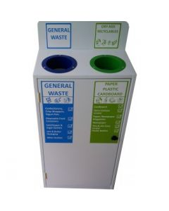 Slimline 2 Bay Recycle Station - 2 x 50 Litre Compartments