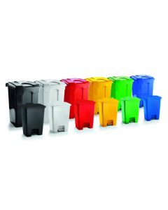 30 Litre Economy Plastic Step Bin - Available in 6 Colours