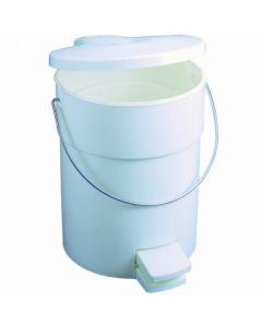 Rubbermaid Step on Round Sanitary Bin with Liner - 17 Litre