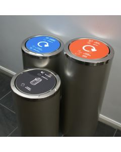 Torpedo Swing Lid Recycling Bin - 3 Sizes Available