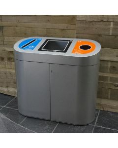 Torpedo Triple Recycling Unit with Graphics - 162 Litre