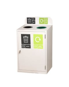 Zeus 2 Bay Recycling Station - 2 x 80 Litre Compartments