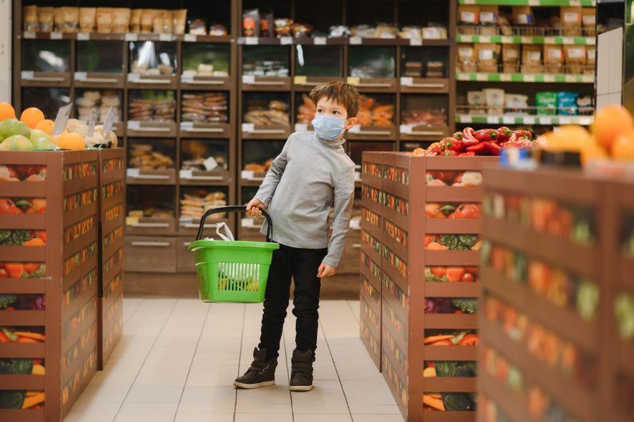 wearing face mask in shops