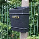 Post Mountable Open Top Litter Bin - 35 Litre