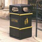GFC Closed Top Litter Bin - 84 Litre