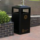 Heavy Duty Outdoor Steel Litter Bin -112 Litre