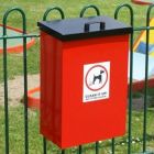 Post Mountable Dog Waste Bin with Lift up Lid - 56 Litre