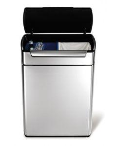 Simplehuman Touch-Bar Litter Bin - 2 x 24 Litre Compartments