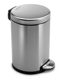 Simplehuman Round Cosmetic Pedal Bin - 3 & 4.5 Litre Available