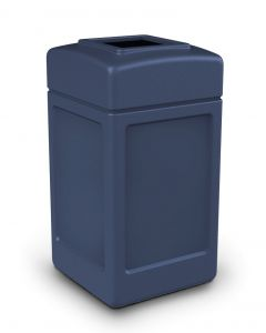 Square Open Top Litter Bin - 140 Litre