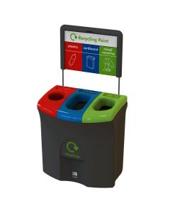 Mini Meridian Triple Opening Recycling Bin - 87 Litre