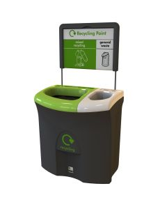 Mini Meridian Duo Aperture Recycling Bin - 87 Litre