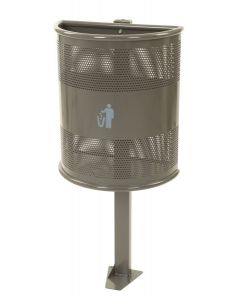 Heavy Duty Outdoor Litter Bin - 35 Litre