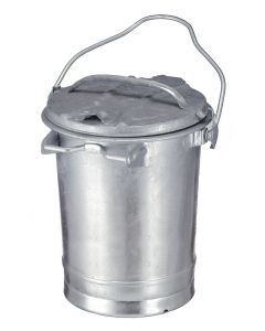 Galvanized Steel Dust Bin - 35 Litre