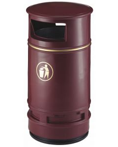 Copperfield Ground Mountable Litter Bin - 90 Litre