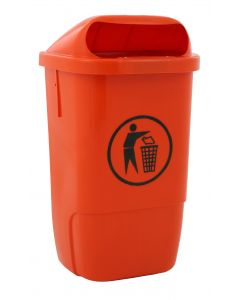 Plastic Outdoor Waste Bin Available in 3 Colours - 50 Litre