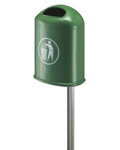 Powder Coated Outdoor Litter Bin - 45 Litre