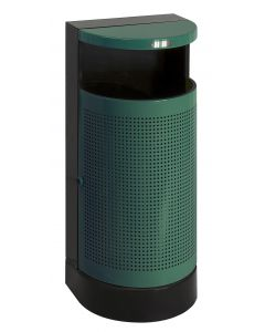 Semi Round Outdoor Litter Bin - 35 Litre